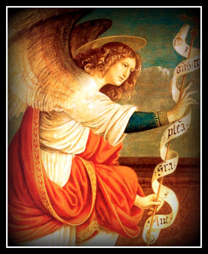 L'Arcangelo Gabriele parla a Maria dans immagini sacre archangelgabriels